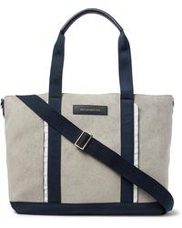 Want Les Essentiels De La Vie - Marti Nylon And Leather-trimmed Faux Suede Tote Bag - Lyst