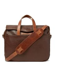 RRL - A-2 Leather Briefcase - Lyst