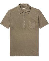 Massimo Alba - Wembley Linen-piqué Polo Shirt - Lyst