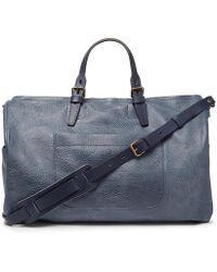 Bleu De Chauffe - Full-grain Leather Holdall - Lyst