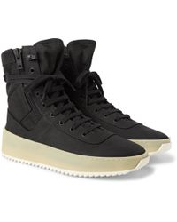Fear Of God - Jungle Nubuck And Canvas High-top Trainers - Lyst