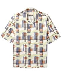 Maison Kitsuné - Printed Cotton-poplin Shirt - Lyst