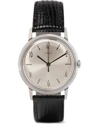 Timex - Marlin Stainless Steel And Cross-grain Leather Watch - Lyst