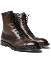 Berluti - Shearling-lined Leather Boots - Lyst