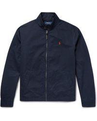 Polo Ralph Lauren - - Barracuta Slim-fit Cotton-twill Harrington Jacket - Navy - Lyst