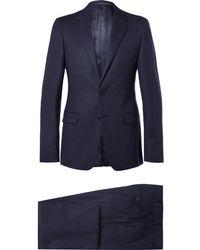 Prada - Midnight-blue Slim-fit Wool-twill Suit - Lyst