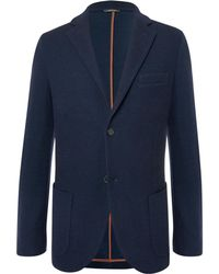 Loro Piana - Navy Slim-fit Unstructured Cashmere And Virgin Wool-blend Blazer - Lyst