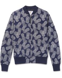 Golden Bear - Pineapple-print Textured-cotton Bomber Jacket - Lyst