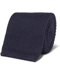 Loro Piana - 6cm Knitted Cashmere And Silk-blend Tie - Lyst