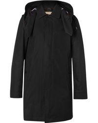 Burberry Cotton-blend Gabardine Hooded Coat With Detachable Gilet