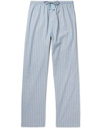 Calvin Klein - Striped Cotton Pyjama Trousers - Lyst