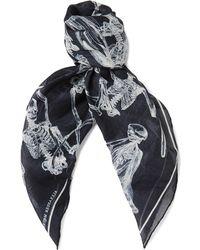 Alexander McQueen - Printed Cotton Scarf - Lyst