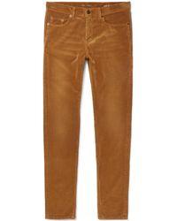 Saint Laurent - Skinny-fit Cotton-corduroy Trousers - Lyst
