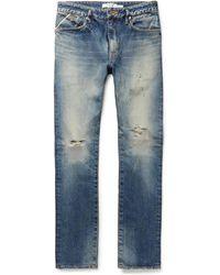 Nonnative | Dweller Slim-fit Distressed Selvedge Denim Jeans | Lyst