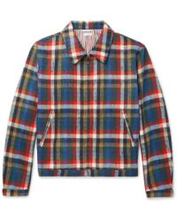 Thom Browne - Checked Wool-blend Blouson Jacket - Lyst
