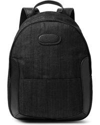 Maison Margiela - Full-grain Leather-trimmed Denim Backpack - Lyst