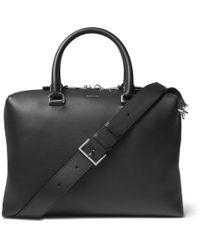 Lanvin - Full-grain Leather Briefcase - Lyst