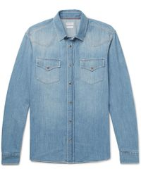 Brunello Cucinelli - Denim Western Shirt - Lyst