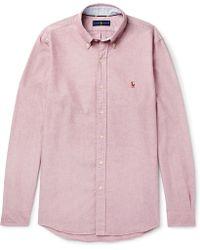 bfeccd47ef6 Polo Ralph Lauren - Slim-fit Button-down Collar Cotton Oxford Shirt - Lyst