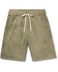 John Elliott - Tie-dyed Loopback Cotton-jersey Drawstring Shorts - Lyst