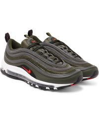 e1e81a9cac Nike Air Max 97 Faux-leather Trainers in Black for Men - Lyst