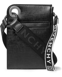 Givenchy - Jaw Textured Coated-canvas Messenger Bag - Lyst