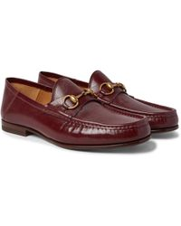 Gucci - Easy Roos Horsebit Collapsible-heel Leather Loafers - Lyst
