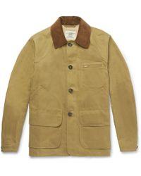 Kent & Curwen - Kingsgate Corduroy-trimmed Cotton-twill Field Jacket - Lyst