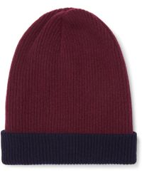 Brunello Cucinelli - Reversible Ribbed Cashmere Beanie - Lyst