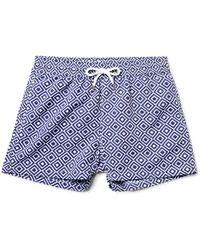 Frescobol Carioca - Angra Slim-fit Short-length Printed Swim Shorts - Lyst