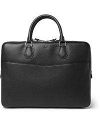 Dunhill - Boston Full-grain Leather Briefcase - Lyst