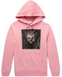 Alexander McQueen - Printed Loopback Cotton-jersey Hoodie - Lyst