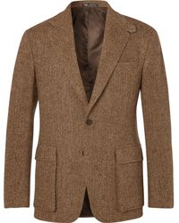 Polo Ralph Lauren - Tan Slim-fit Herringbone Wool Suit Jacket - Lyst