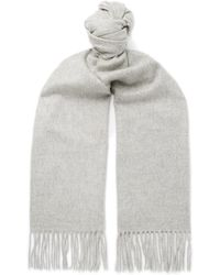 Johnstons - Fringed Cashmere Scarf - Lyst