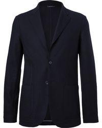 Loro Piana - Navy Unstructured Cashmere And Virgin Wool Blazer - Lyst