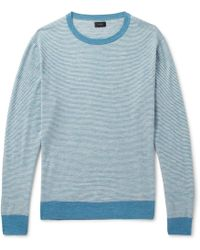 J.Crew - Striped Knitted Jumper - Lyst