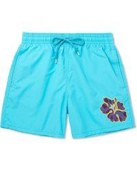 Vilebrequin - Moorea Mid-length Appliquéd Swim Shorts - Lyst