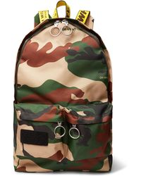 Lyst - Tomas Maier Leather-trimmed Camouflage-print Canvas Backpack ... df4d24c549a29