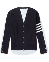 Thom Browne - Oversized Striped Cardigan - Lyst