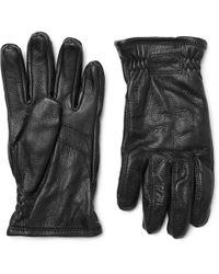 Hestra - Sarna Full-grain Leather Gloves - Lyst
