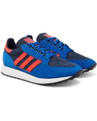 adidas Originals - Forest Grove Suede And Mesh Sneakers - Lyst