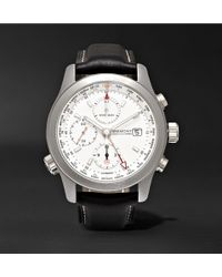 Kingsman - Bremont Alt1-wt/wh World Timer Automatic Chronograph 43mm Stainless Steel And Leather Watch - Lyst