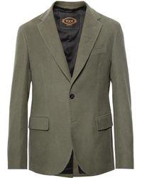Tod's - Green Cotton-moleskin Suit Jacket - Lyst