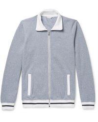 Orlebar Brown - Kirque Mélange Cotton-piqué Track Jacket - Lyst