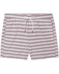 Onia - Charles Mid-length Striped Swim Shorts - Lyst