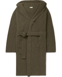 CONNOLLY - Ribbed Cashmere Hooded Cardigan - Lyst