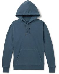 J.Crew - Garment-dyed Loopback Cotton-jersey Hoodie - Lyst