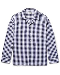 Sleepy Jones - Henry Gingham Cotton Pyjama Shirt - Lyst