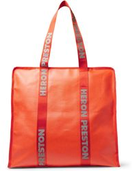Heron Preston Logo-print Shell Tote Bag - Orange