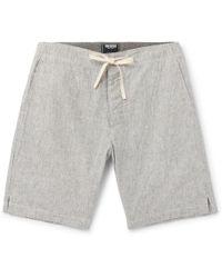 Todd Snyder - Striped Slub Cotton Drawstring Shorts - Lyst